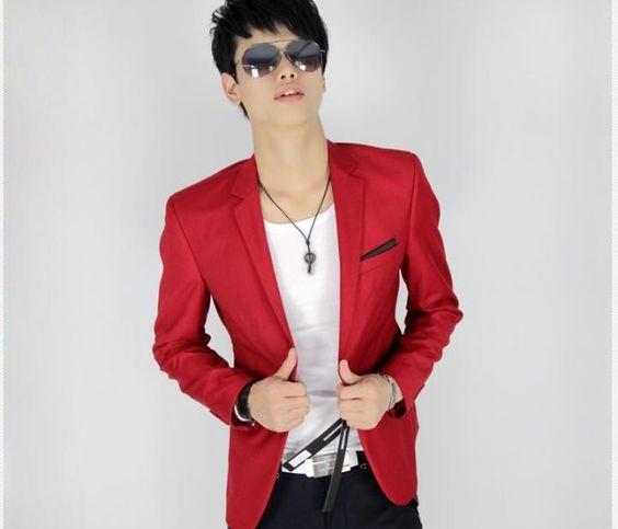 Mens Red Blazer