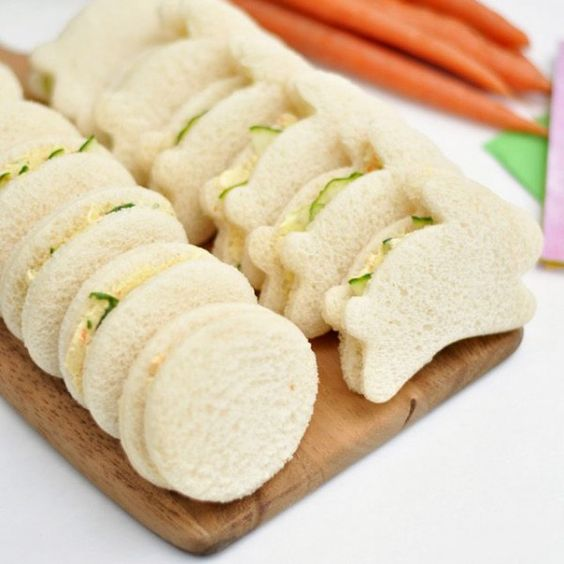 Adorable Easter Cucumber Sandwiches - And other easter ideas: