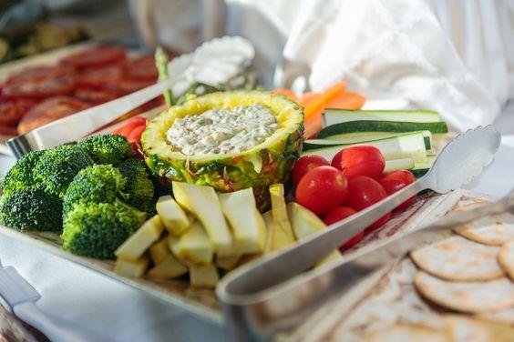 Vegetable platter #pineapple #yum