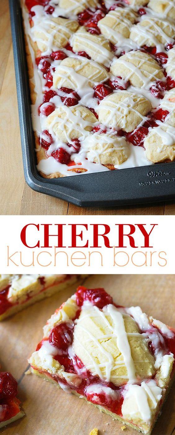 Cherry Kuchen Bars | Recipe | Cherry pie bars, Bar and Cherry pies