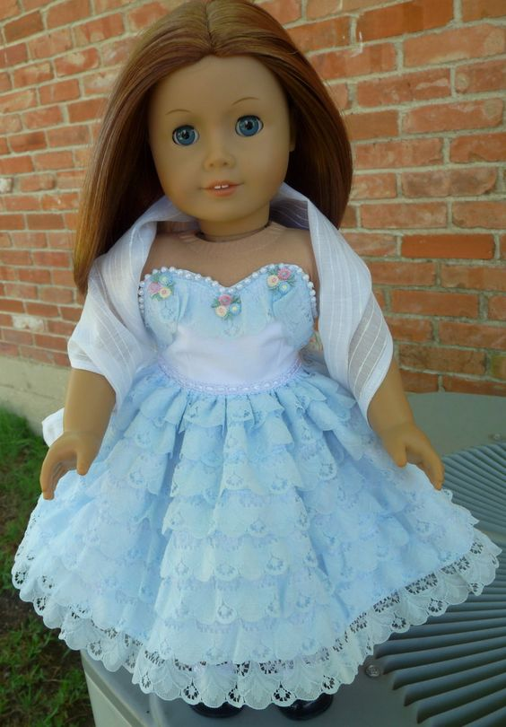 18 Quot Doll Clothes 1950 S Style Sleeveless Ruffled Party