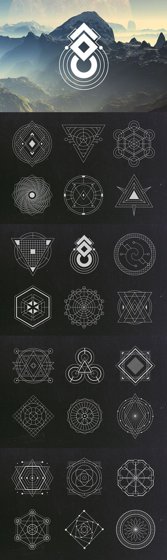 24 Sacred Geometry Vectors Graphics Vector Clipart And Design