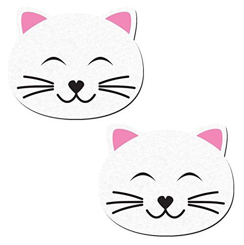 Kitty Cat Happy Nipple Pasties in White Pastease o/s Past…