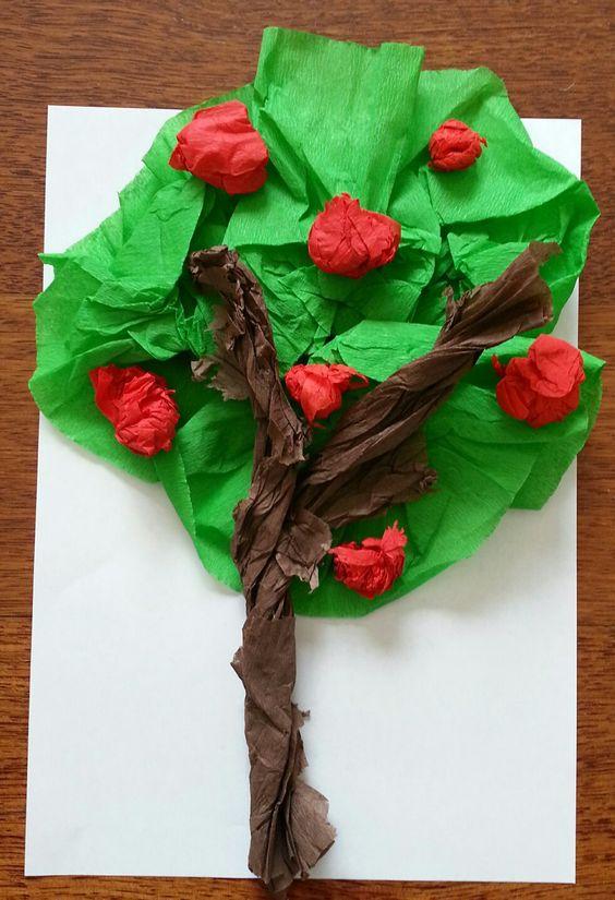 Krepon ağaç #crepepaper #preschool #geridönüşüm #kids #kendinyap #etkinlik #art #okuloncesi #anaokulu #kindergarten #crafts #diy