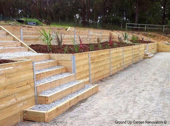 Wood Retaining Wall Problems Retainingwallideas Landscaping Retaining Walls Landscape Timbers Garden Retaining Wall