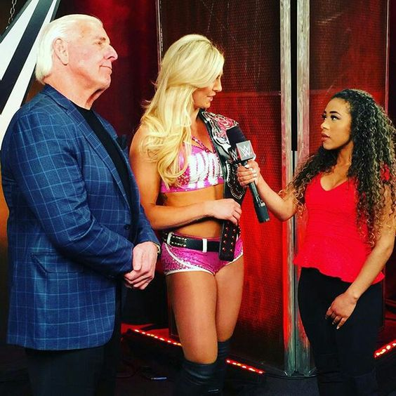 Jojo interviews WWE Divas Champion Charlotte and Ric Flair.