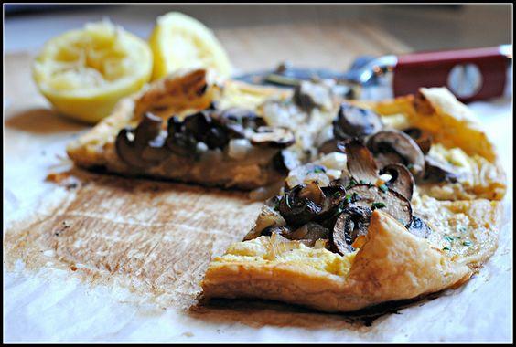 Mushroom  Feta Tart by preventionrd #Mushroom #Feta #preventionrd
