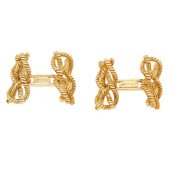 Tiffany & Co. Ralph Lauren Gold Knot Cufflinks #sprezza #spoiled
