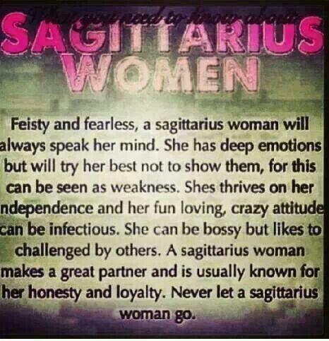 Never let a Sagittarius woman go!!-SK
