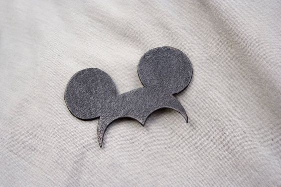 Miki Brooch. Natural recycled black leather, minimalistic, pure, funny. on Etsy, $30.00