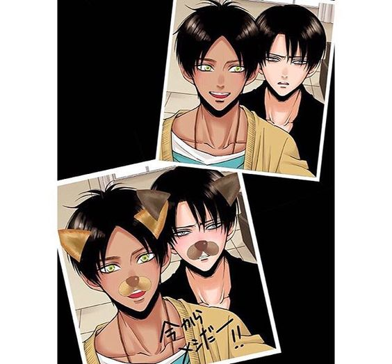 Eren... why do you look like chocolate? But it's so hot and cute