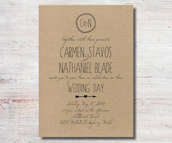 Simple Wedding Invitations Pinterest: Wedding, Simple Weddings And Rustic Wedding Invitations On