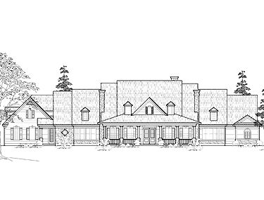 Four Bedroom Farmhouse (HWBDO60667) | Farmhouse House Plan from BuilderHousePlans.com