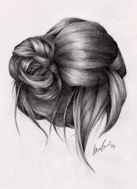 drawing front view ponytails Google Search Fashion