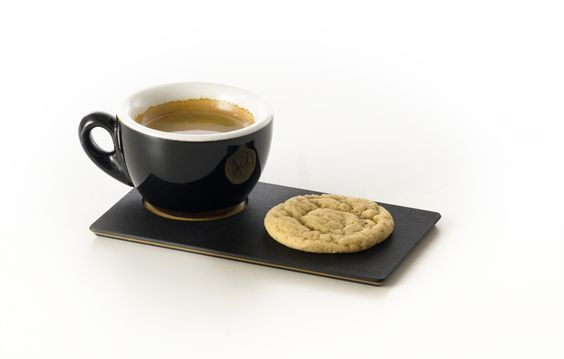 Eco-friendly espresso serving plates from Epicurean.