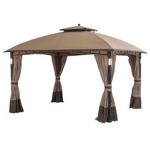 Moorehead 12 Ft W X 10 Ft D Steel Patio Gazebo Patio Gazebo Gazebo Patio