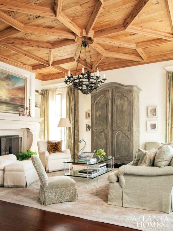 #pecky #cypress #ceiling - summerfield - Carole Weaks & Susan Massey