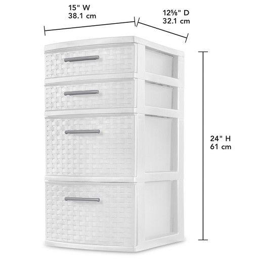 4 Drawer Weave Tower White Target Storage Towers Storage Drawers Sterilite