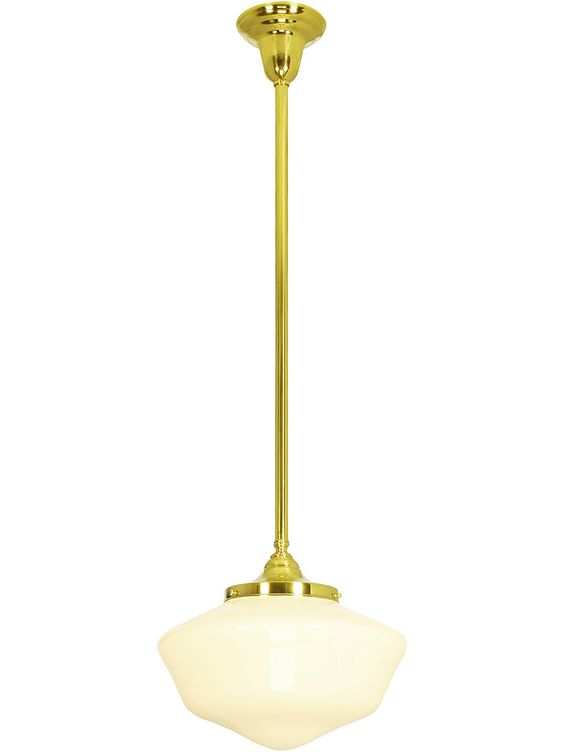 """Solid Brass Stem Pendant With 6"""" Fitter 