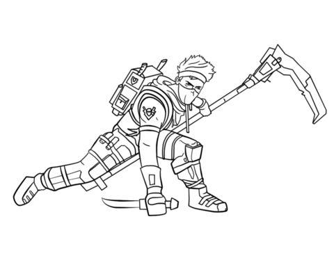 Fortnite Ninja Coloring Page Free Printable Coloring Pages Di 2020