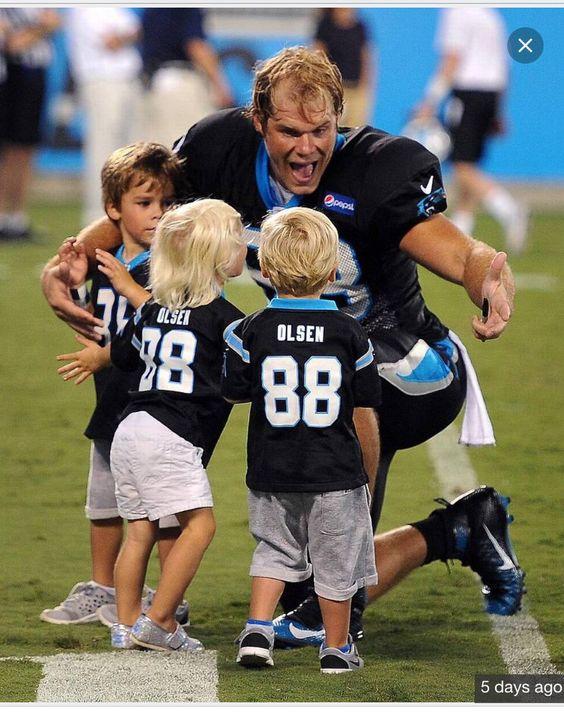 Cheap NFL Jerseys Outlet - Greg Olsen and his kids!! | Smith Home | Pinterest | Greg Olsen ...