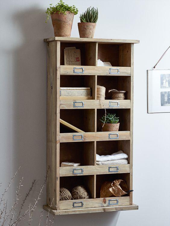 Tall Wooden Box Unit Meuble Meuble De Metier Meuble En Carton Et Mobilier De Salon