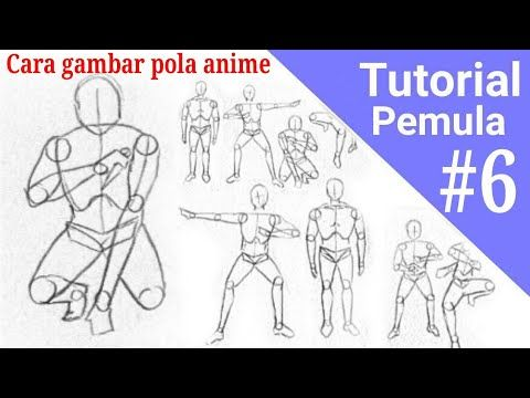 Anime Poses | Cara menggambar, Gambar tubuh, Menggambar pola