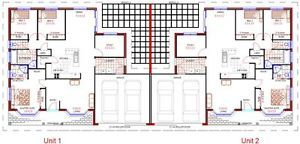 Duplex design  x bedroom   double garage   house plans   for    Duplex Design X Bedroom Double Garage House Plans FOR Sale WOW