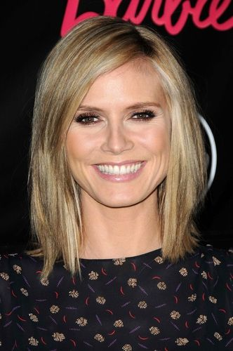 heidi klum frisur schulterlang frisuren pinterest bobs und heidi klum. Black Bedroom Furniture Sets. Home Design Ideas
