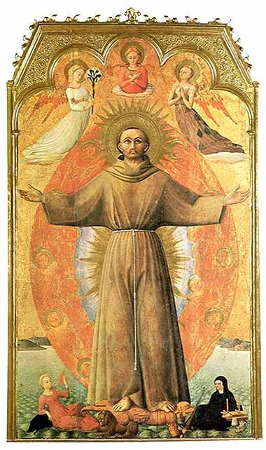St. Francis in Ecstasy by Il Sassetta, ca. 1444.