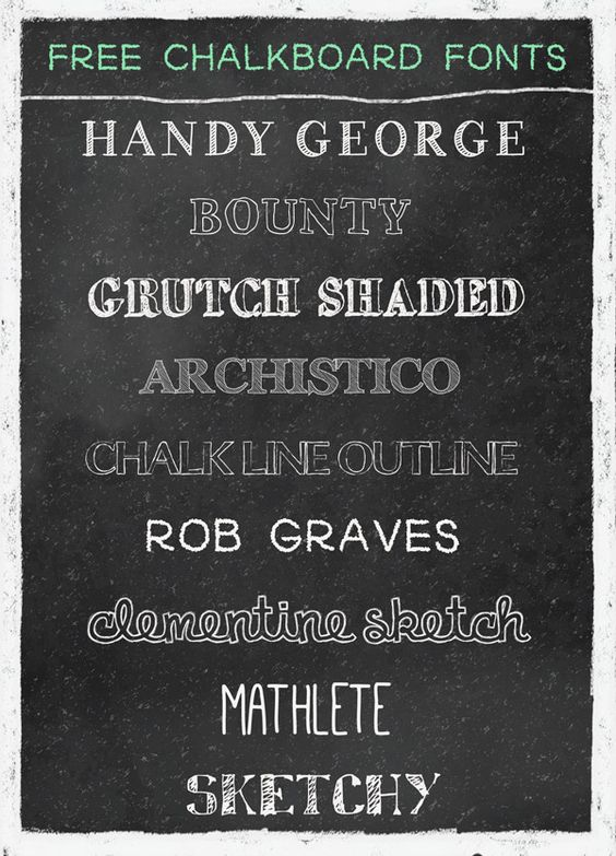 A Typical English Home Best Free Chalkboard Fonts Free Chalkboard Fonts Chalkboard Fonts Chalkboard