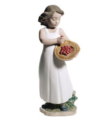 "Nao by Lladro fine porcelain figurine: ""Strawberry Bonnet""  - No.1665. #Lladro #Statue #Sculpture #Decor #Gift #gosstudio .★ We recommend Gift Shop: http://www.zazzle.com/vintagestylestudio ★"