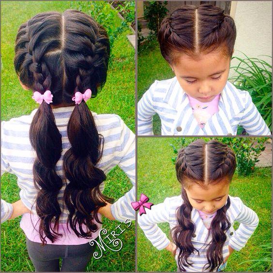 Hair style Little girls and Pretty hair on Pinterest