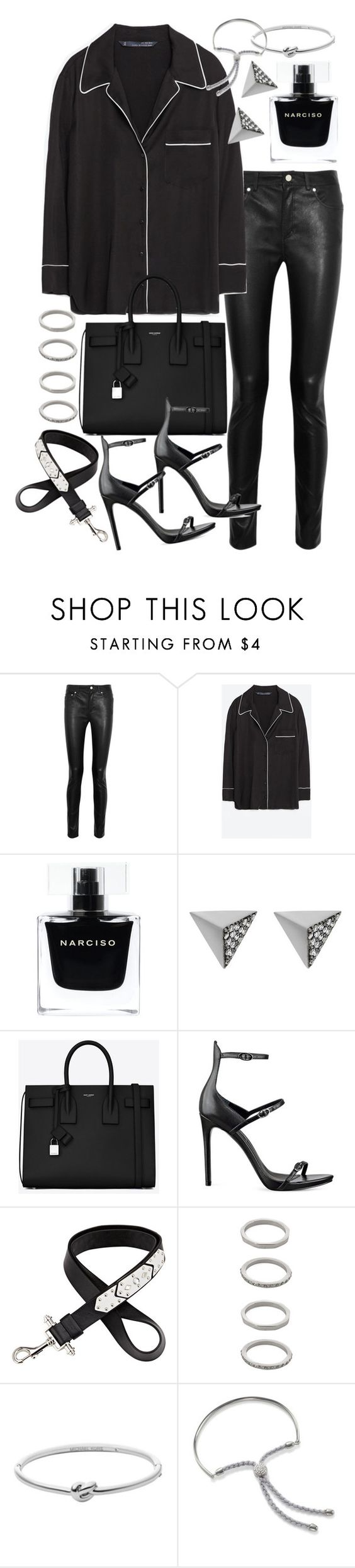 """""""Untitled #19799"""" by florencia95 ❤ liked on Polyvore featuring Acne Studios, Zara, Narciso Rodriguez, Ileana Makri, Yves Saint Laurent, Kendall + Kylie, Givenchy, Forever 21, Michael Kors and Monica Vinader"""