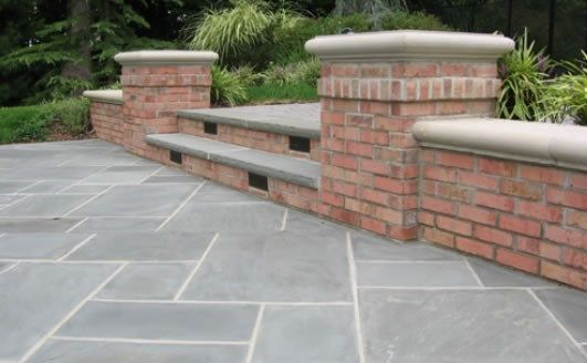 Low Retaining Wall Steps Brick Cipriano Landscape Design Mahwah