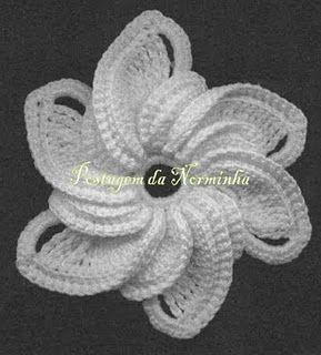 Crochet flower http://pontopreso1.blogspot.com/2011/06 ...
