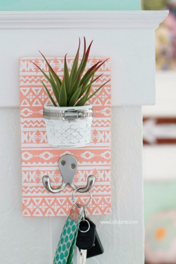 Cheap Crafts To Make and Sell - Potted Mason Jar Key Holder - Inexpensive Ideas for DIY Craft Projects You Can Make and Sell On Etsy, at Craft Fairs, Online and in Stores. Quick and Cheap DIY Ideas that Adults and Even Teens Can Make on A Budget http://diyjoy.com/cheap-crafts-to-make-and-sell