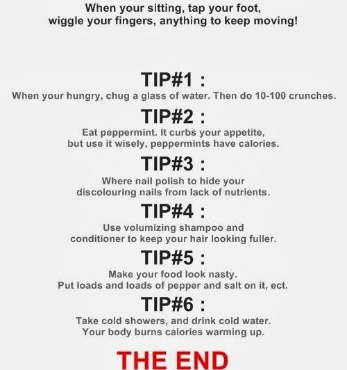 Abführmittel zum schnellen Abnehmen von Ana und Mia Diäten