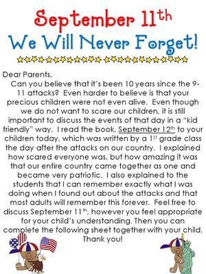 september 11th lesson