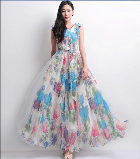 Robe de mari e robes and style boh me on pinterest for Robes de demoiselle d honneur pour mariage en plein air