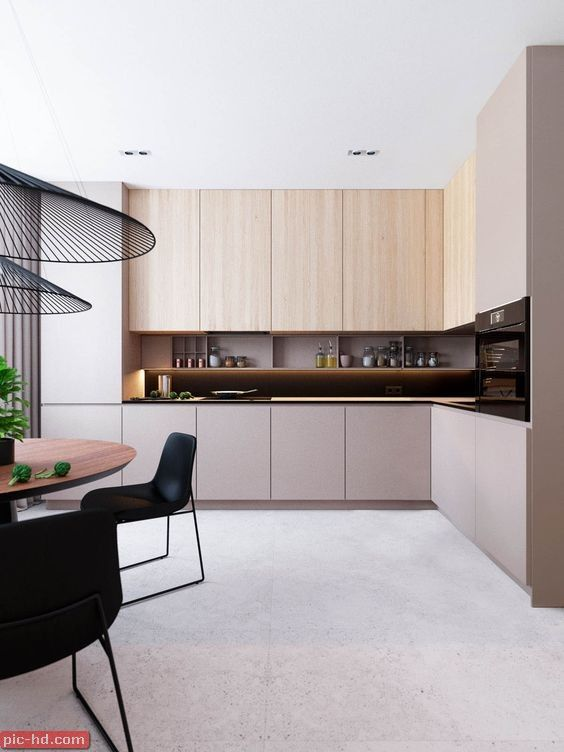 صور مطابخ حديثة تصميمات مطابخ حديثة تصميم مطبخ امريكاني Kitchen Room Design Interior Design Kitchen Minimalist Kitchen Cabinets