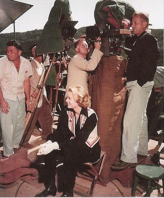 Grace Kelly filming Green Fire