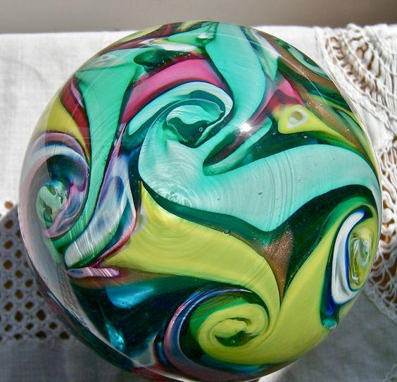 Fratelli Toso Vetreria, Murano Art Glass, Multi-Color Paperweight