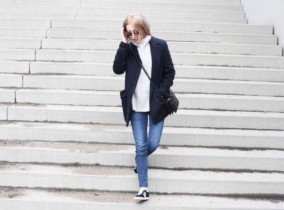 Maje Coat, Mantel, Acne, Denim, Jeans, Adidas, Gazelle, Rika Studios, Ganni, Knit, Casual, Style, lotd, Look, ootd, Outfit, Streetstyle, Winter, Inspiration, Fashion, Blog, stryleTZ