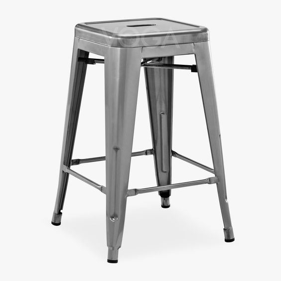 Tabouret de bar tolix tabouret designer voga design mobilier pinte - Chaise imitation tolix ...