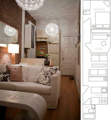 Obsessed with small odd shaped living spaces and the for Odd shaped living room ideas