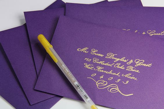 Diy Addressing Wedding Invitations: DIY Hand Calligraphy Envelopes At A Fraction Of The Cost