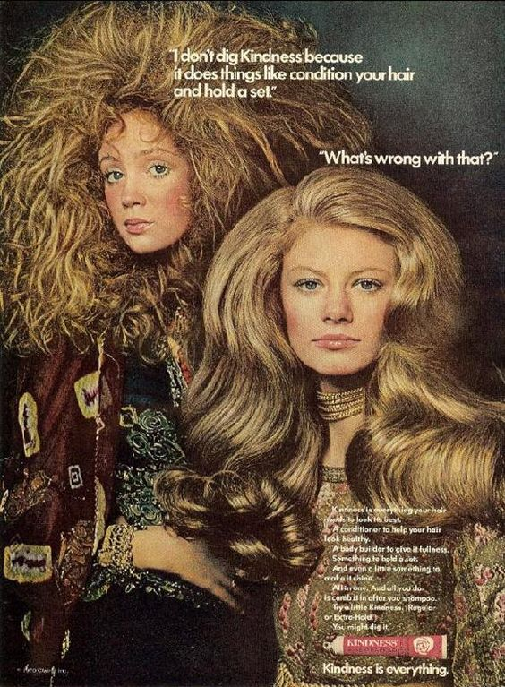 Is the human neck designed to support hair this big? (Funny bad retro hair care ads)