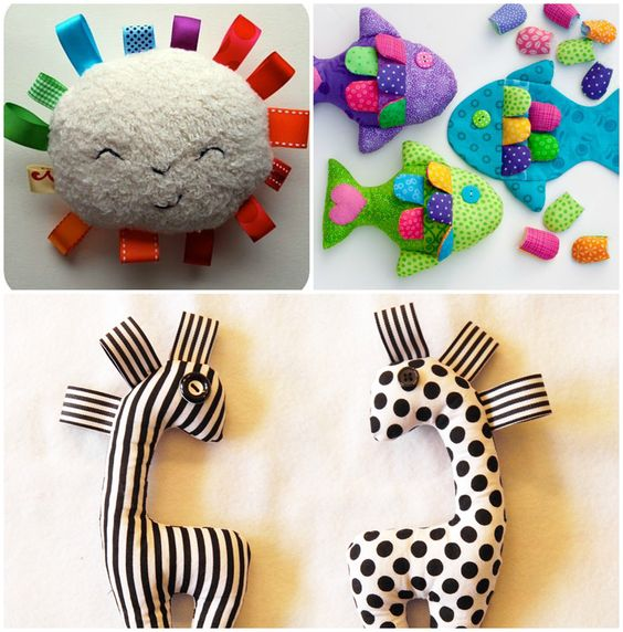 7 ideas para los primeros juguetes de bebé — Studio COSTURA