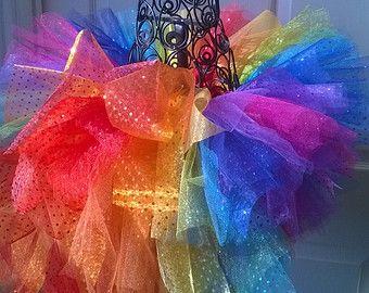 Anniversaire arc-en-ciel Tutu, Tutu de cirque, Baby Rainbow Tutu, Toddler Rainbow Tutu, fille arc-en-ciel Tutu, Tutu adulte